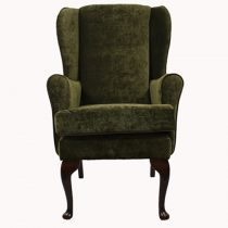 Green orthopedic high seat chair