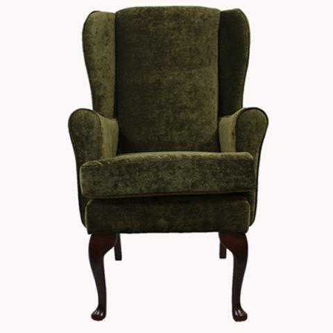 Green orthopedic high seat chair