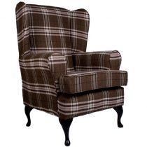 luxury brown orthopedic tartan chair