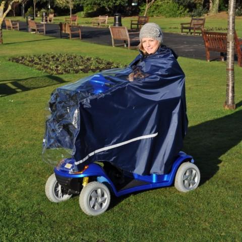 waterproof mobility splash scooter cape