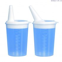 plastic feeding cup adjustable lid