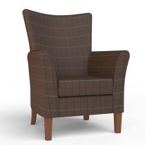Kensington High Seat Chair in Chocolate