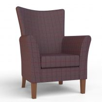 Kensington High Seat Chair in Damson