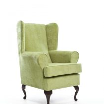 green deap seat orthopedic chair side
