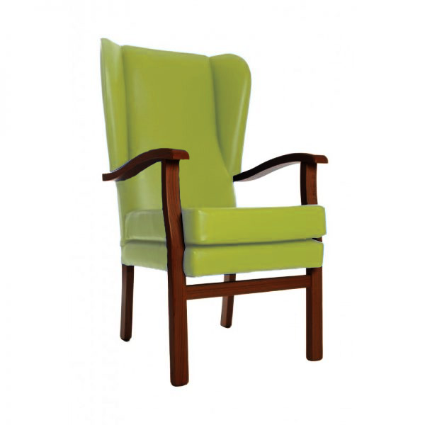 Cavendish Furniture MobilityCavendish Wingback Chair In Apple Green Vinyl 18