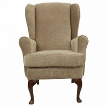 Beige Orthopedic High Seat Chair Queen Anne Style