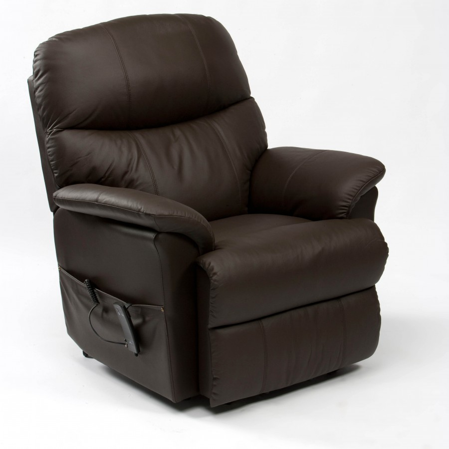 Lars Luxury Leather Dual Motor Rise and Recline chair Brown – Cavendish Furniture Mobility