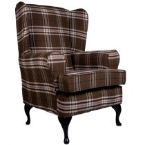 luxury brown orthopedic tartan chair