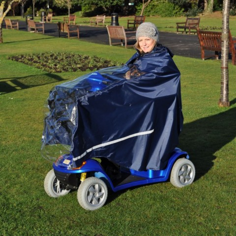 waterproof mobility splash scooter cape