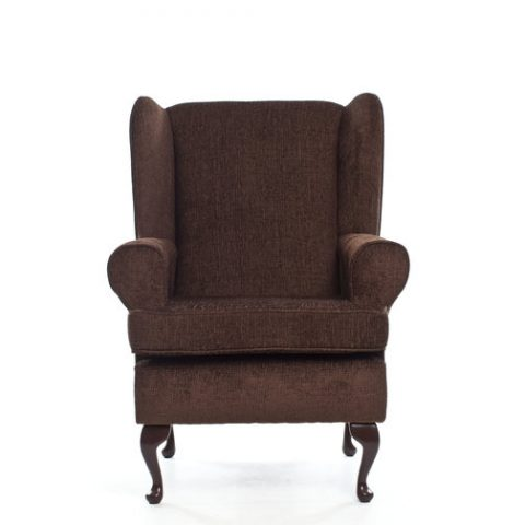 DEEP SEAT ORTHOPEDIC CHAIR IN BROWN
