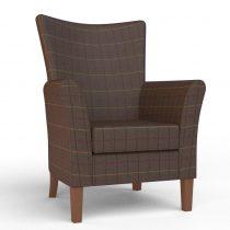 Kensington High Seat Chair in Chocolate