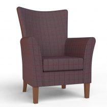 Kensington High Seat Chair in Damson