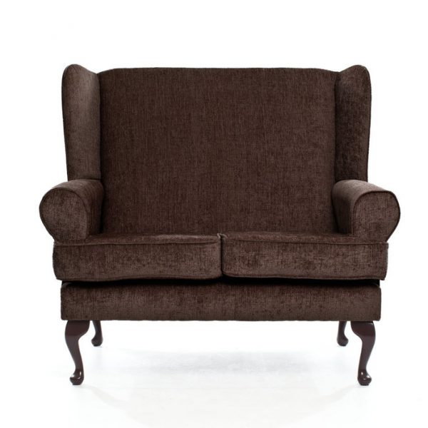 Matching Deep Seat 2 Seat Sofa in Brown